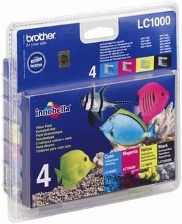 Brother Zestaw LC1000 CMYK Blister Pack | 500str | DCP330C / DCP540CN / MFC5460C