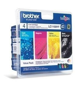 Brother Zestaw LC1100HY CMYK Blister Pack | 900str | MFC6490CW / DCP6690CW
