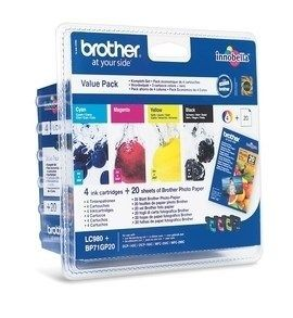 Brother Zestaw LC980 CMYK Blister Pack | 300str | DCP145C / DCP165C / MFC250C