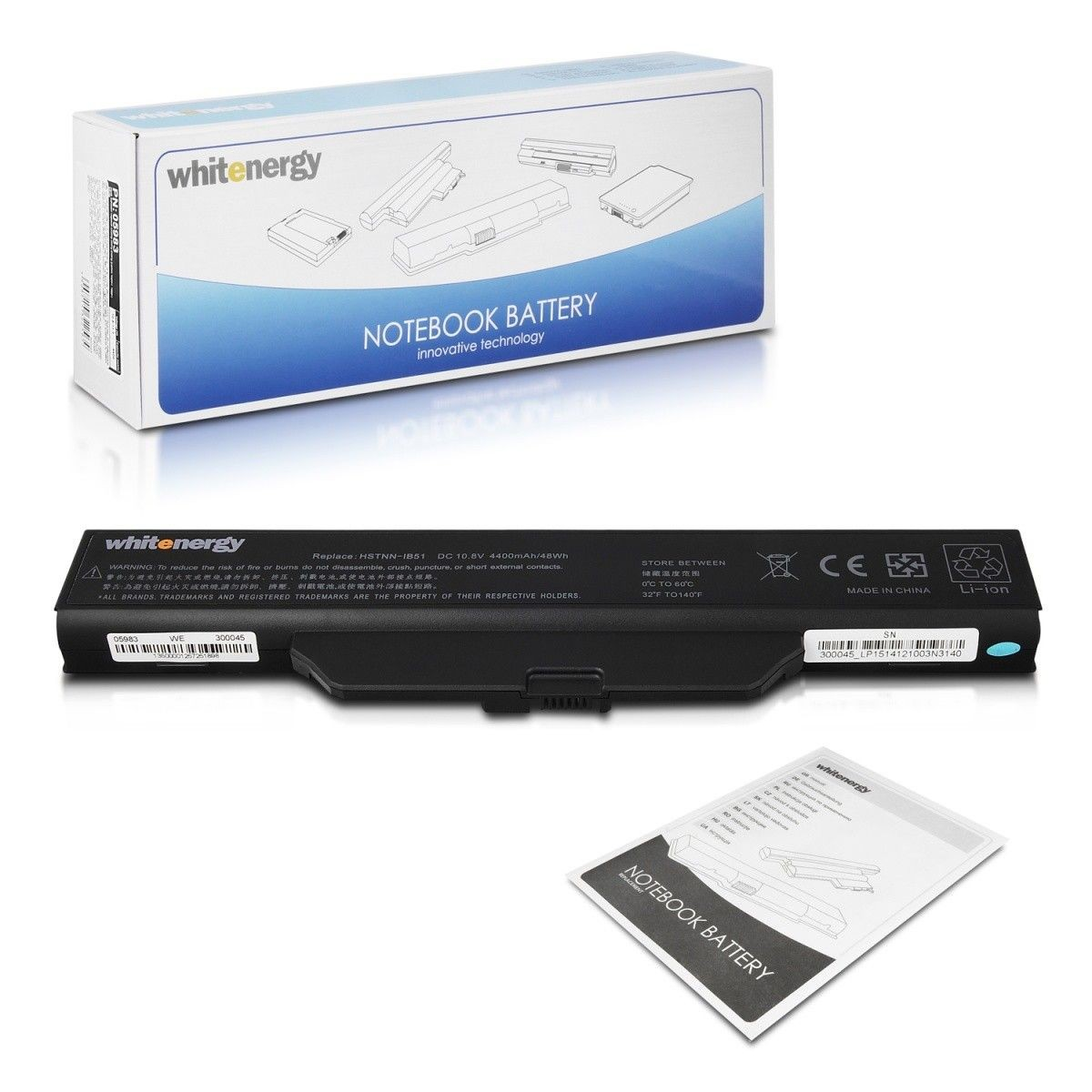 Whitenergy bateria HP Compaq Business Notebook 6720 10.8V Li-Ion 4400mAh