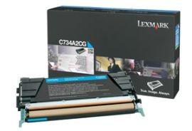 Lexmark toner cyan (6000str, C734/ C736/ X734/ X736/ X738)