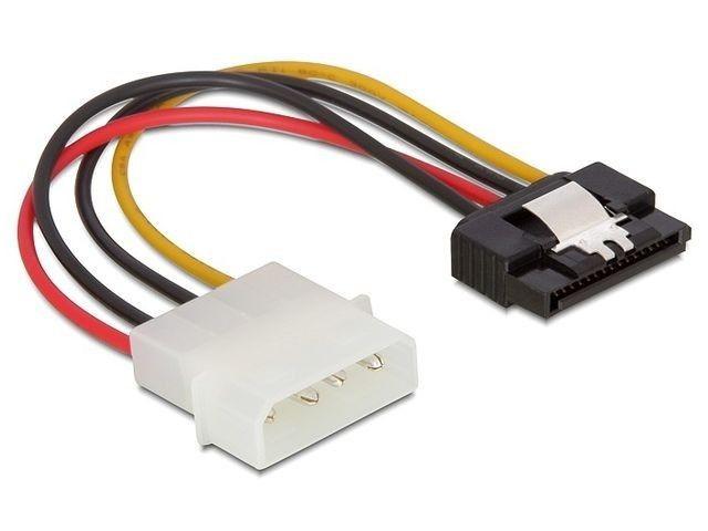 DeLOCK kabel SATA zasilający HDD (M) > Molex(M) metalowy zatrzask 15cm