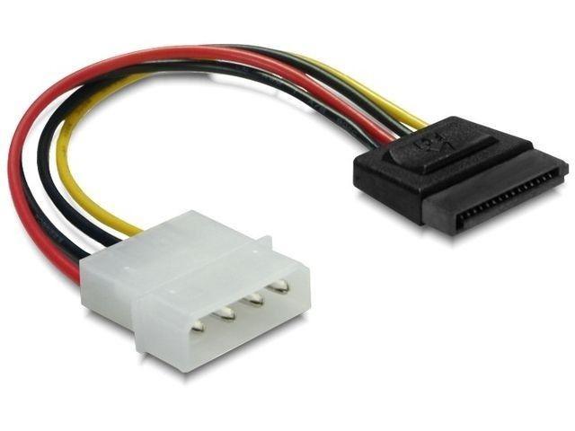 DeLOCK kabel SATA zasilający HDD (M) > Molex(M) 6cm
