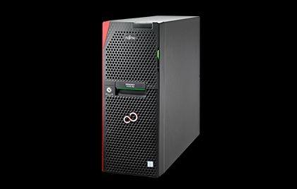 Fujitsu TX1330 M2 (tower, opcja rack 4U)/1x Intel Xeon E3-1220v5/1x 8 GB DDR4 2133 ub ECC, max 64GB/0,1,10 SATA, inne opcja/2x 1000GB SATA, HotPlug (Business Critical 72k, 6G)/ Max 12 szt 3,5 SATA/SAS HotPlug Dla dysków SAS wymagany dodatkowy kontroler SA