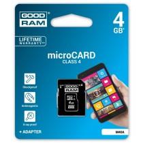 GoodRam microSD 4GB CL4 + adapter