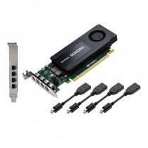 PNY Technologies NVIDIA Quadro K1200 DP, 4GB GDDR5 (128 Bit), 4xminiDP (4xminiDP to DP), LP