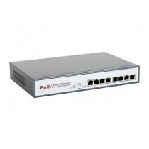 8level GEPS-1808 Switch PoE 8-portów Gigabit(8 portów PoE,15.5 W/Port, max 130W)
