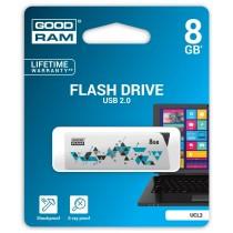 GoodRam CL!CK 8GB USB2.0 WHITE