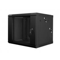 Lanberg szafa wisząca dwusekcyjna rack 19'' 9U 600x600mm czarna