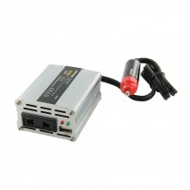 Whitenergy przetwornica AC/DC 12V (samochód) na 230V 100W (USB, mini)