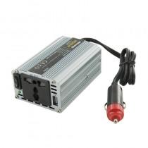 Whitenergy Przetwornica AC/DC 24V (samochód) na 230V, 200W mocy złącze USB