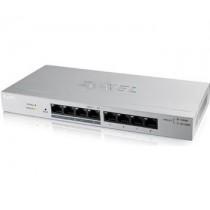 ZyXEL Zyxel GS1200-8HP 8-port GbE Web Smart metal Switch, 4x PoE 802.3at, 60W, fanless