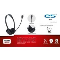 E5 Słuchawki z mikrofonem e5 BASE czarne
