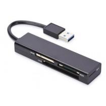 ednet Czytnik kart 4-portowy USB 3.0 SuperSpeed (CF, SD, MicroSD/SDHC, MS)