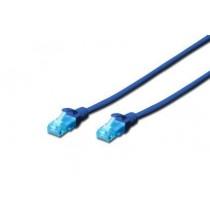 Digitus Kabel patch cord UTP, CAT.5E, niebieski, 0.25m, 15 LGW