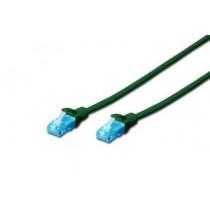 Digitus Kabel patch cord UTP, CAT.5E, zielony, 0.25m, 15 LGW