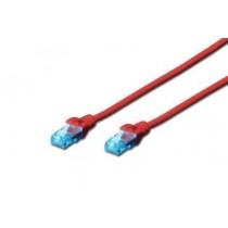 Digitus Kabel patch cord UTP, CAT.5E, czerwony, 0.25m, 15 LGW