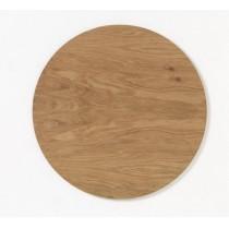NAGA Okrągła drewniana tablica magnetyczna złoty dąb 45cm