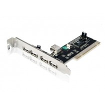 Gembird kontroler PCI do USB 2.0 (4+1) VIA