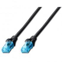 Digitus Patch cord U/UTP kat.5e PVC 0,5m czarny