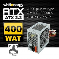 Whitenergy zasilacz komputerowy ATX 2.2 400W BOX (fan 120mm)