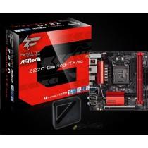 ASRock Z270 Gaming-ITX/ac,INTEL Z270 Series,LGA1151,2 DDR4,2xM.2(1for SSD 1WiFi)