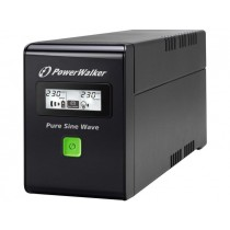 PowerWalker UPS LINE-INTERACTIVE 800VA 2X SCHUKO OUT RJ11/45 IN/OUT, USB, LCD, PURE SINE WAVE