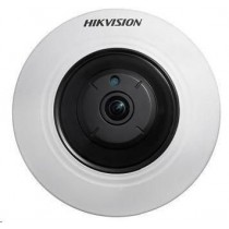 Hikvision HIKVISION IP kamera 3,6Mpix, Fisheye, obj. 1,6mm (180°),PoE, IR-Cut, IR 8m,DI/DO,audio in/out, Wi-Fi, microSDXC, vnitřní