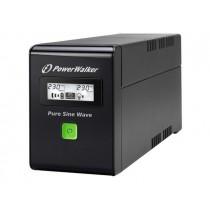 Power Walker UPS Line-Interactive 800VA 2x PL 230V, PURE SINE, RJ11/RJ45,USB,LCD