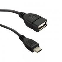 Qoltec Kabel USB OTG 2.0 A żeński | Micro USB B męski | 0.2m