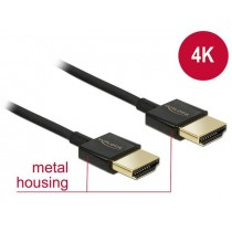 DeLOCK Kabel High Speed HDMI with Ethernet HDMI AM > HDMI AM 3D 4K 0.25m Slim