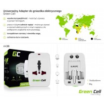 Green Cell Travel Adapter ALL-IN-ONE 150 countries with etui