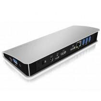 RaidSonic Technology IcyBox Stacja Dokująca z zasilaniem USB Type-C , HDMI, DP, czytnik kart SD