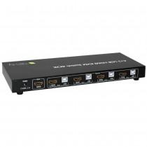 Techly 4-portowy przełącznik KVM HDMI/USB 4x1 z audio
