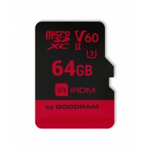 GoodRam Karta Pamięci micro SDXC IRDIM 64GB V60 UHS-II U3 + Adapter