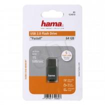 Hama HAMA FLASHDRIVE PASTEL 2.0 64GB 15MB/s (SZARY)