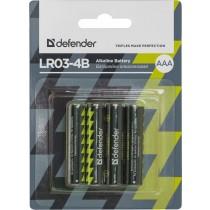 Defender Baterie alkaliczne LR03-4B AAA - 4 szt blister