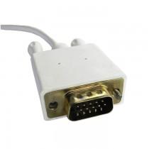 Qoltec DisplayPort Alternate mode | USB 3.1 typ C męski | VGA męski | 1080p | 2m