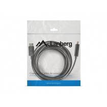 LANBERG kabel Display Port(M)->HDMI 5m czarny