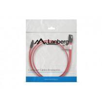 LANBERG kabel SATA III Data 6 Gb/s 50cm kątowy