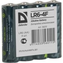 Defender Baterie alkaliczne LR6-4F in film AA - 4 szt folia