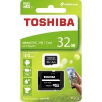 Toshiba Karta Pamięci Micro SDHC 32GB M203 Class 10 UHS-I + Adapter