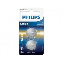 Philips Baterie PHILIPS Litowa CR2032 2 sztuki Blister