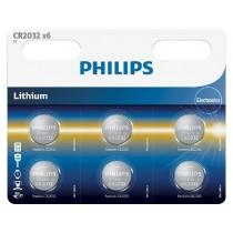 Philips Baterie litowe PHILIPS CR2032P6 3V 6 sztuk Blister