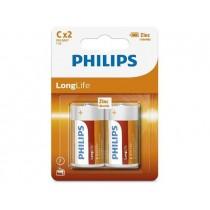 Philips Baterie PHILIPS Longlife 1.5V R14 Blister 2 sztuki