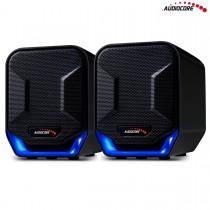 Audiocore Głośniki komputerowe 6W USB AC865B czarno-niebieskie