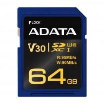 A-Data karta pamięci Premier Pro SDXC UHS-I U3 Class 10 64GB (R95/W90) retail