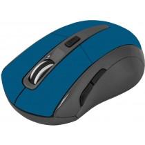 Defender Mysz bezprzewodowa ACCURA MM-965 optyczna 1600dpi 6P niebieska