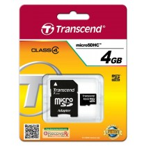 Transcend micro SecureDigital HC 4GB (Class 4) + adapter