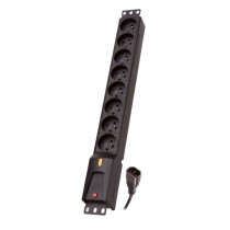 Lestar listwa zasilająca IEC (8 gniazd, rack 19'', 3m)